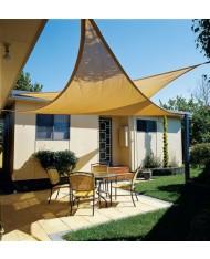 vela OMBREGGIANTE triangolare 5x5x5 MT ecrù- giardino telo copertura tenda