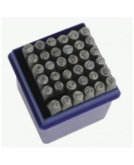 Set punzoni alfanumerici 36pz da 10mm - LETTERE + NUMERI