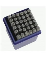 Set punzoni alfanumerici 36pz da 12mm - LETTERE + NUMERI
