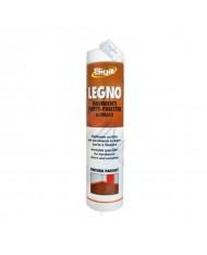 NOCE SCURO -- SILICONE per legno  acrilico  - SIGILL-  300ml