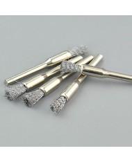 5pz - Mini spazzola a pennello D.6 - gambo 3mm in acciaio x dremel mini trapano