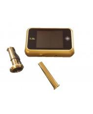 """SPIONCINO DIGITALE CON TELECAMERA SCHERMO LCD 3,5""""- ottonato - VI.TEL."""