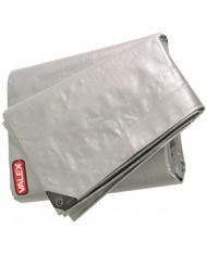 TELONE OCCHIELLATO  - 5X8 MT  - tipo pesante (10kg)  - Rinforzato telo argento