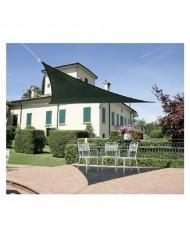 vela OMBREGGIANTE triangolare Verde 5x5x5mt - giardino telo copertura tenda