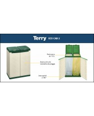 TERRY PATTUMIERA DIFFERENZIATA 2 ANTE CM.68X39X87H ECO CAB2
