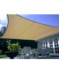 vela OMBREGGIANTE QUADRATA 3X3mt - Ecrù - giardino telo copertura tenda