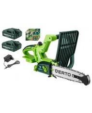 Sega a batteria Verto VES 18V 2ah - doppia batteria - Motosega a batteria 52G585