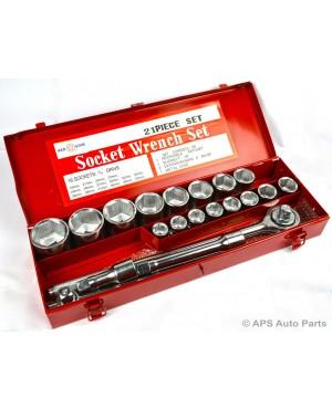 KIT BUSSOLE - 3/4 - 21PZ 19-50mm CRICCHETTO CON LEVA + CHIAVI A BUSSOLA - CAMION TIR