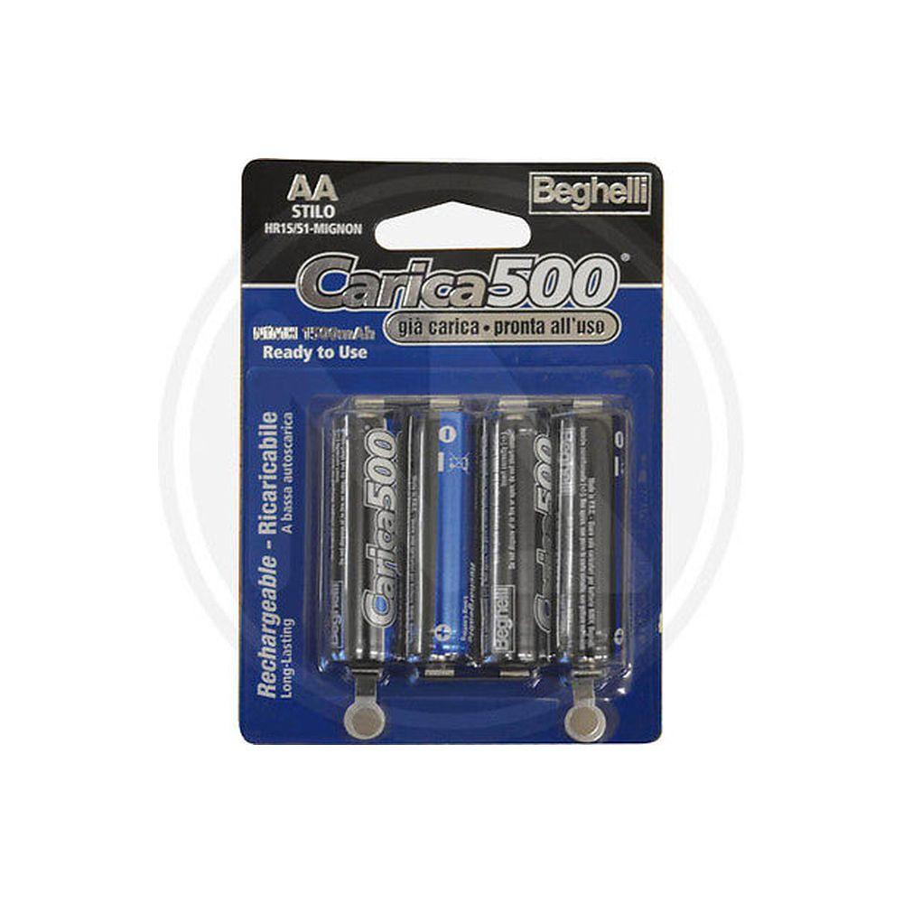 "batteria BATTERIE RICARICABILI STILO AA- 1,2 VOLT- BEGHELLI ""CARICA 500""  eBay"