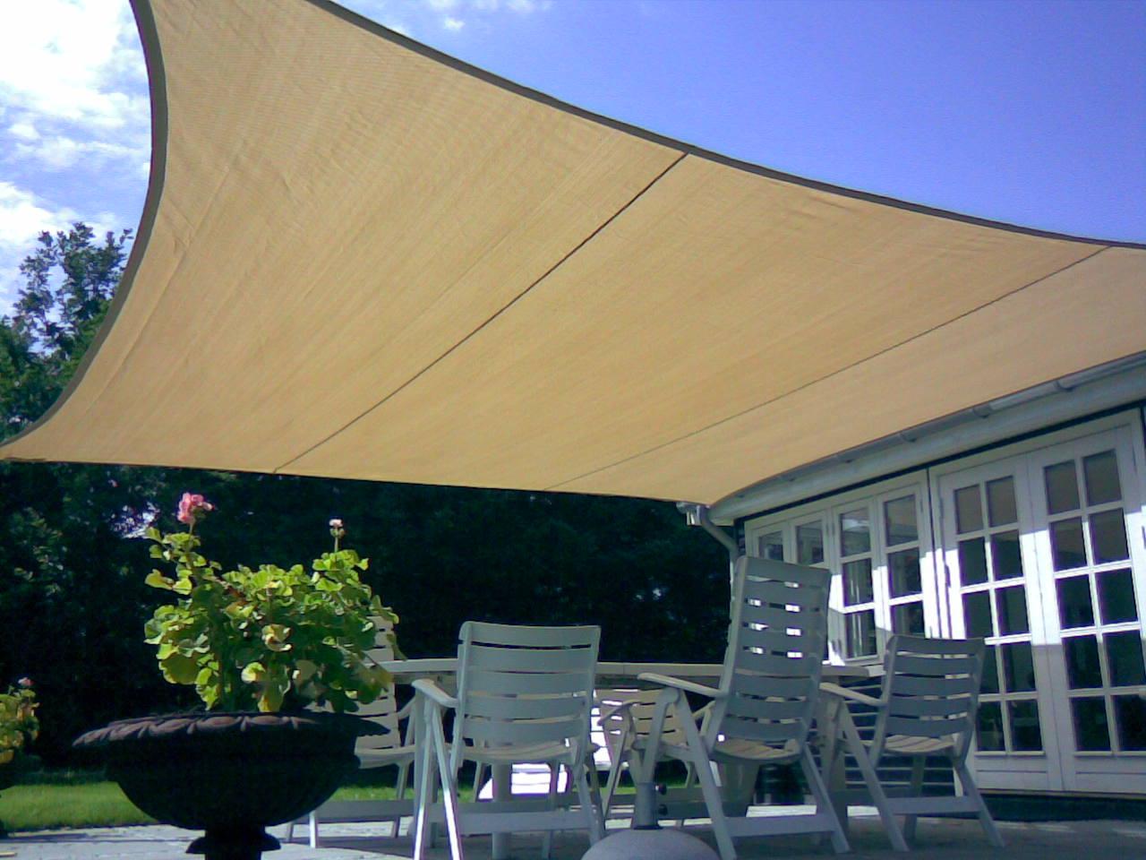 Tenda A Vela Quadrata : Vela ombreggiante quadrata mt ecrù giardino telo copertura